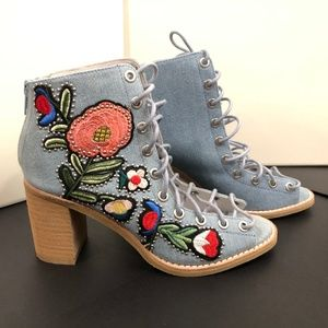 Jeffrey Campbell Cors Booties in Denim